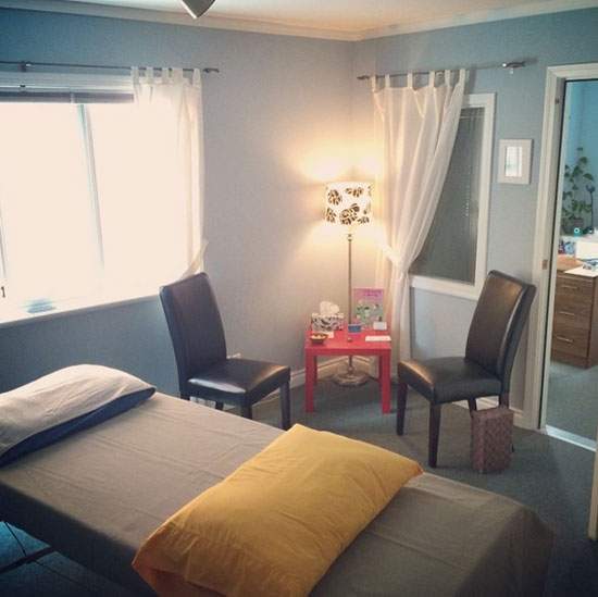 Victoria Craniosacral clinic room from two years back